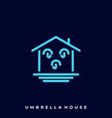 umbrella house template vector image