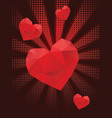 valentins day greeting with 3d heart vector image vector image