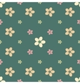 Vintage flower seamless pattern background vector image