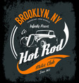 vintage hot rod logo concept isolated vector image
