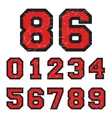 Vintage numbers stamp vector image vector image