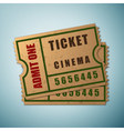 Vintage paper admit one and ticket icon isolated vector image