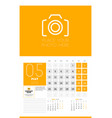 wall calendar planner template for 2020 year 3 vector image vector image