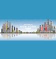welcome to new york usa skyline with gray vector image vector image