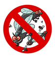anti blackfly sign vector image