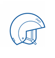 Snowboarding Helmet Line Icon vector image