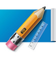 pencil on paper sheet xxl icon vector image