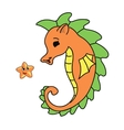 seahorse cartoon vector image