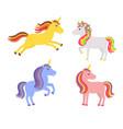 set of cute unicorns vector image