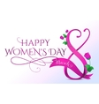 8 march womens day greeting vector image vector image
