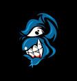 a devil cartoon character mascot vector image