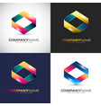 abstract 3d logo template for your company brand vector image vector image