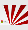abstract red and grey corporate material vector image vector image