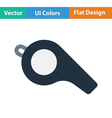 American football whistle icon vector image vector image
