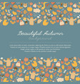 beautiful autumn doodle background vector image vector image