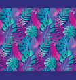 beautiful seamless pattern with ropical jungle vector image vector image