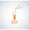 beer glass bottle menu background vector image vector image