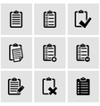 black check list icon set vector image vector image