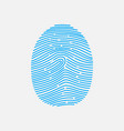 blue fingerprint shape vector image