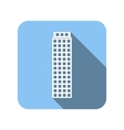 Blue house flat icon vector image vector image