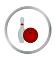 Bowling icon cartoon Single sport icon from the vector image vector image