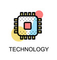 chip icon for high technology vector image vector image