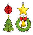 christmas holiday decoration set vector image vector image