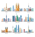 Cities Skylines Icons Set vector image vector image