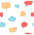colorful hand drawn speech bubble seamless pattern vector image