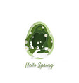 creative of spring and easter concept vector image vector image