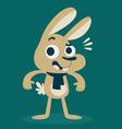 Cute Bunny Surprised vector image vector image