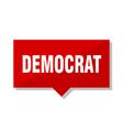 democrat red tag vector image vector image