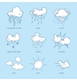 Doodle big set of Hand Drawn Clouds vector image vector image