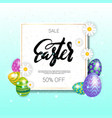 Easter sale card background template with vector image