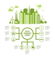 Eco Town Infographic vector image
