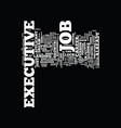 executive job search dlvy nicheblowercom text vector image vector image