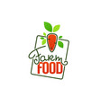 farm food simple logo template emblems and vector image vector image