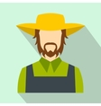 Farmer flat icon vector image