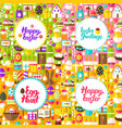 flat happy easter postcards vector image