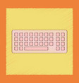 flat shading style icon computer keyboard vector image