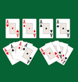 four aces set vector image