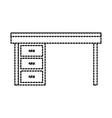furniture desk drawers wooden table design vector image