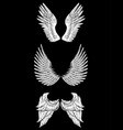 hand drawn different wings template for card vector image
