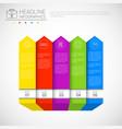 headline infographic design business data graphic vector image vector image