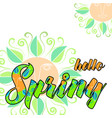 hello spring abstract background vector image
