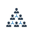 Hierarchy employee structure icon