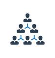 hierarchy employee structure icon vector image vector image