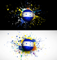 Honduras flag with soccer ball dash on colorful vector image