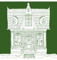 house on green vector image vector image