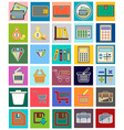 Icons with flat design elements of financial vector image vector image